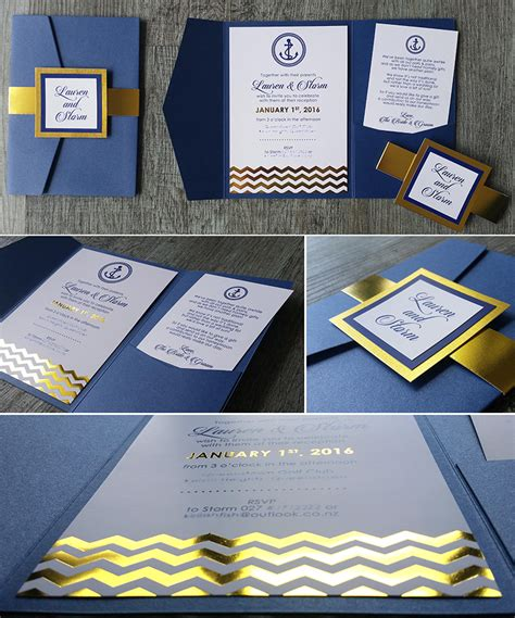 wedding invitations navy and gold foil printed wedding invitations new zealand silver gold