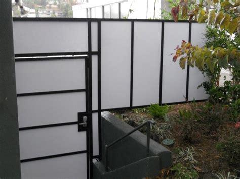 Plexiglass Fence Plexiglass Fences Modern Landscape Los Angeles By