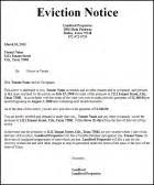 Landlord Eviction Notice Tennessee Tenant Eviction Notice Letter Sle