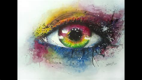 water color watercolor eye by jovan lili艸