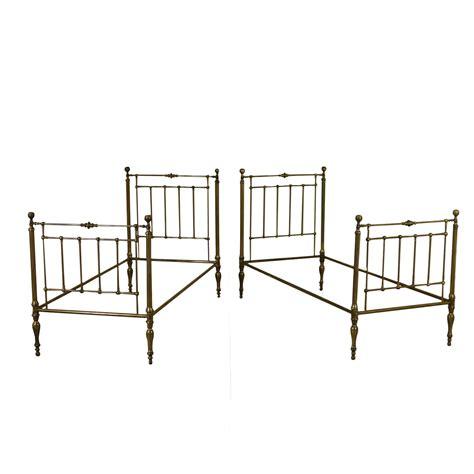 letti di ottone coppia di letti in ottone letti e testate antiquariato