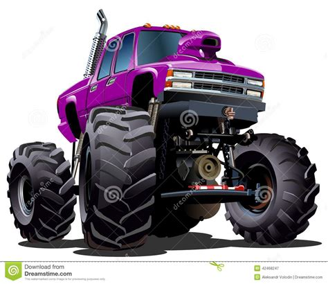 bigfoot monster truck cartoon cartoon monster truck vector illustration cartoondealer