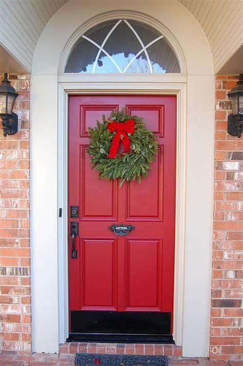 red doorblack kick plateblack handle  happy day