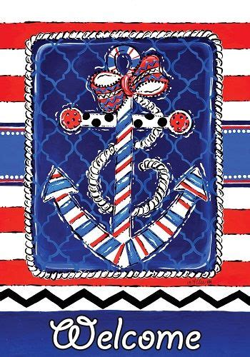 Custom Decor Garden Flags Custom Decor Flag Patriotic Anchor Decorative Flag At Garden House Flags At Gardenhouseflags