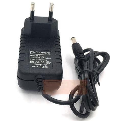 Grosir Adaptor 12 V1a Bagus ac adapter alat elektronik 12v 1a 5 5mm pin ly 008 12 black jakartanotebook