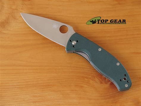 spyderco knife company spyderco tenacious folding knife green handle c122gpgr