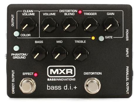 Mxr M80 Bass D I mxr m80 bass d i bass distortion pedal sweetwater