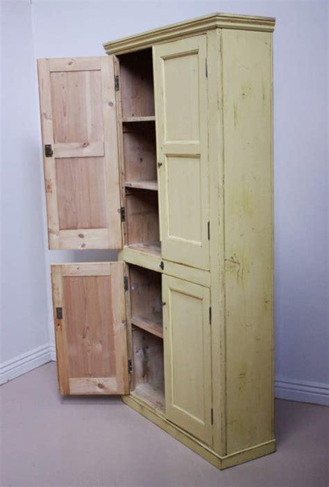century antique painted pine kitchen cupboard