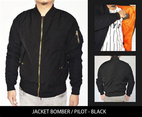 Jaket Pilot Bombers Harian Anti Air Tahan Angin M Sd jual jaket motor harian pilot bomber hitam tahan angin air pabrix jaket