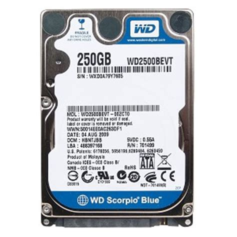 Hardisk Laptop Wd 250gb 49 9 wd2500bevt western digital 250gb sata laptop notebook drive 2 5 quot