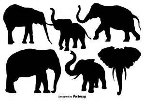 elephant silhouette vector isolated silhouettes of elephants vector free