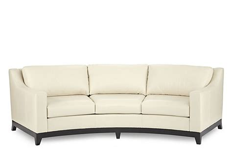 curved leather couch bayside 109 quot curved leather sofa cream