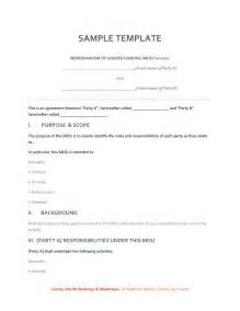Sample Memorandum Of Agreement Template Memorandum Of Understanding Sample Template In Word And
