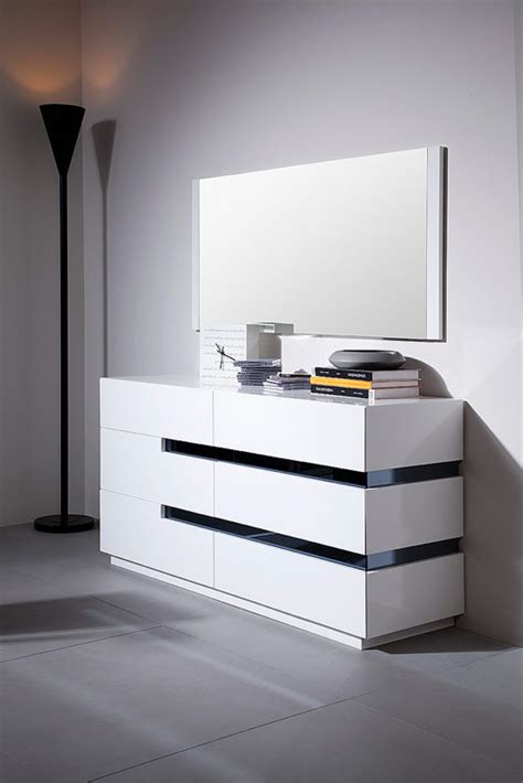 white gloss bedroom dresser modrest polar contemporary white gloss dresser