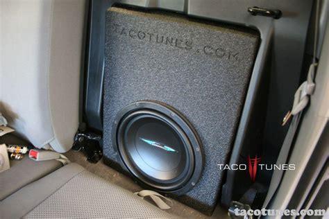 Toyota Tacoma Subwoofer Toyota Tacoma Cab Image Dynamics Subwoofer Box