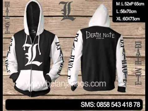 Jaket Anime Sweater jaket hoodie sweater jumper anime note kode predn02 sms 62858 543 418 78
