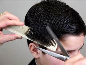 cutting hair so it scissor over comb technique