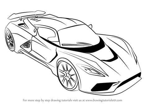 sports car drawing learn how to draw venom f5 sports cars step by step