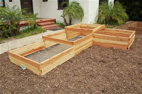l shaped raised garden bed 4x16 raised garden bed tiered and l shaped garden bed green thumb pinterest