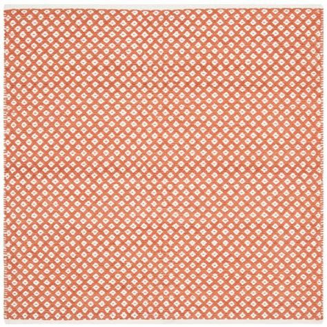4 square rug safavieh boston orange 4 ft x 4 ft square area rug bos685c 4sq the home depot