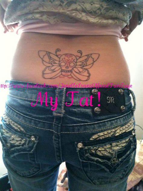 jenelle evans tattoos photos jenelle quot j quot and skull butterfly tattoos
