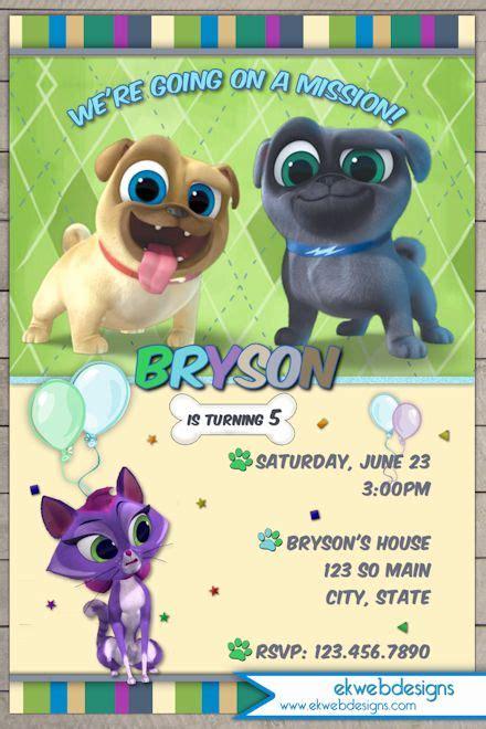 Puppy Dog Pals Birthday invitation   Disney jr.s puppy Dog Pals Invitation