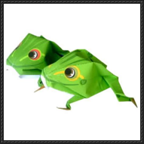 Papercraft Frog - new paper craft canon papercraft frog origami free