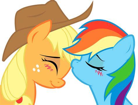 human rainbow dash x reader lemon applejack and rainbow dash sweet kiss by kennyklent on