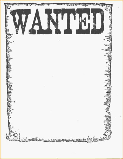 doc 12441606 7 wanted poster template microsoft word