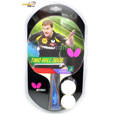 Bed Ping Pong Butterfly Stayer 1800 Original butterfly timo boll 3000 fl shakehand table tennis racket with 2 balls
