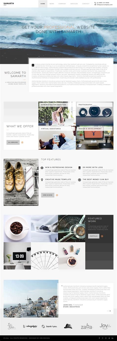 25 best multipurpose muse templates 2017 responsive miracle