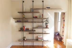 adjustable wall shelving systems adjustable rustic modern shelving unit of reclaimed wood