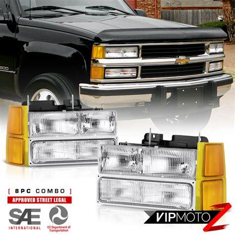 chevy truck cab lights 94 98 chevy c3500 headlights bumper roof cab l bulbs