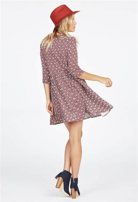 swing kleidung trapeze swing dress kleidung in cinnamon multi g 252 nstig