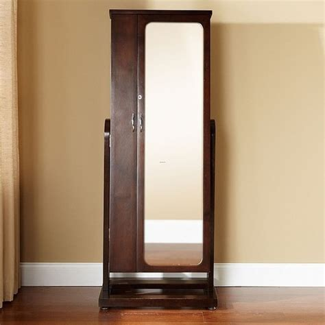 Jewelry Armoire Standing Mirror by Jewelry Armoire Walnut Standing Mirror Visual Bookmark 12857