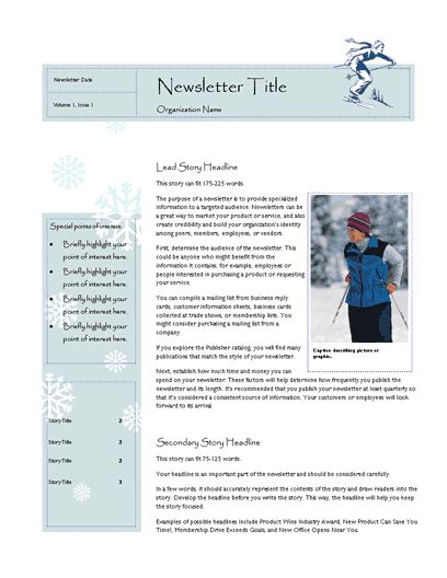 best photos of microsoft office publisher newsletter