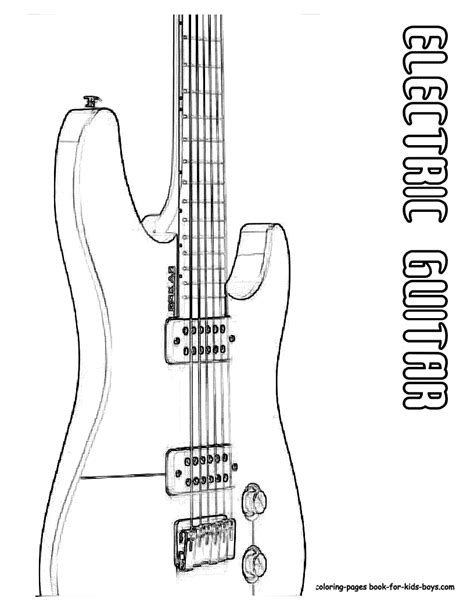 coloring pages electric guitar classic electric guitar coloring page you can print out
