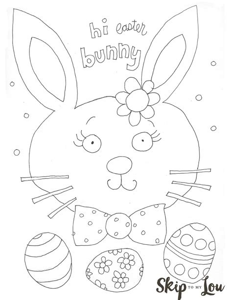 easter coloring pages preschool cute easter coloring page skip to my lou