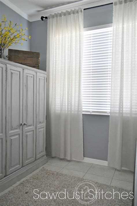 muslin curtain panels cheapest and easiest curtains ever part 2 sawdust 2