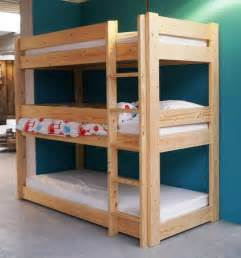 Blueprints For Triple Bunk Beds by Diy Triple Bunk Bed Plans Triple Bunk Bed Pdf Plans Wooden Plan File Bookcase Unfinished