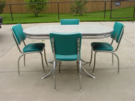 vintage retro 1950 s formica and chrome kitchen table and