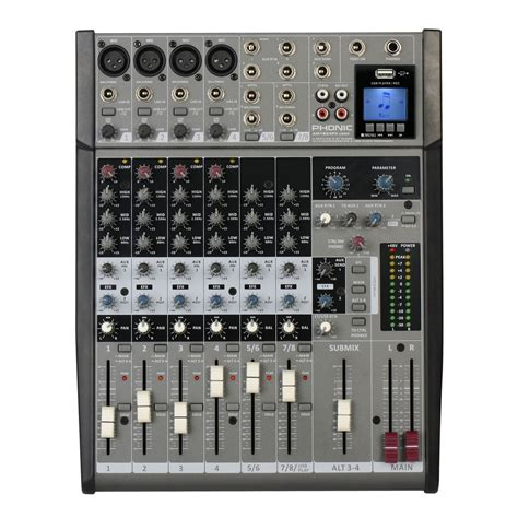 table de mixage enregistreur disc am1204fx phonique usbr table de mixage analogique dfx