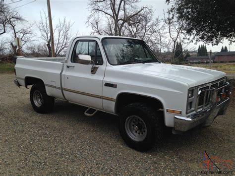short bed 1986 chevy short bed 4x4 rust free
