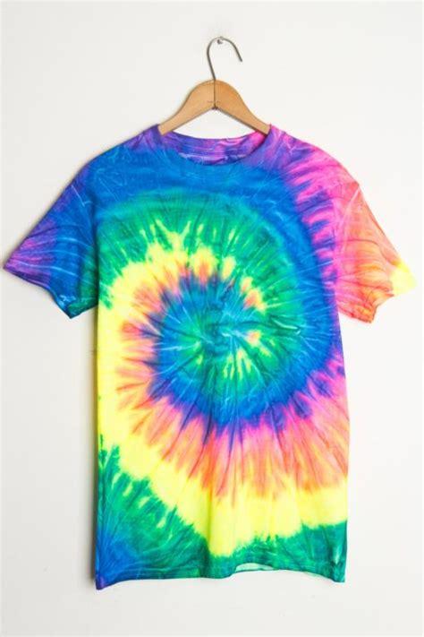 neon rainbow tie dye shirt ragstock