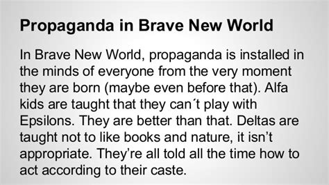 brave new world theme exles conditioning final project