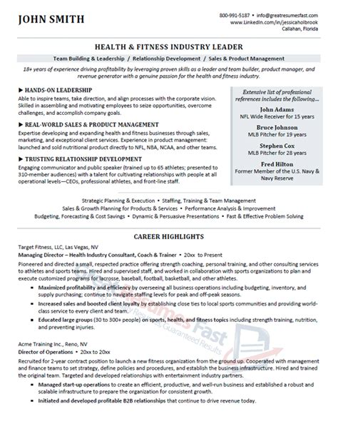 Leadership Exles For Resume by Executive Resume Sles Professional Resume Sles
