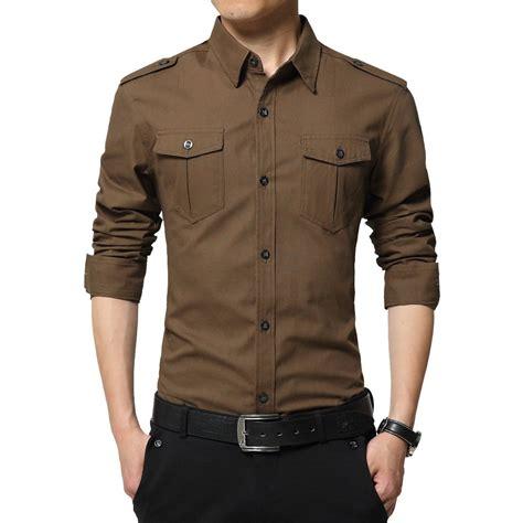 Cotton Korea Dress Blue Size S M L 61342 shirt korean style casual mens shirts mens casual