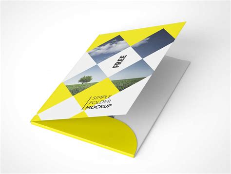 Folder Psd Mockups A4 Folder Template Psd