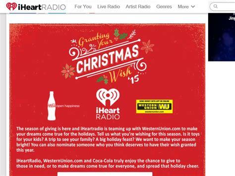 Iheartradio Sweepstakes - iheartradio grant your christmas wish sweepstakes
