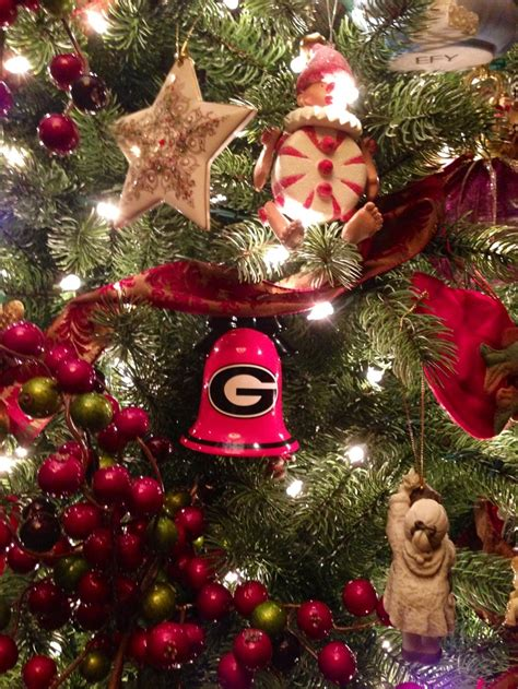uga christmas tree goooooo dawgs i